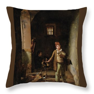 The Little Savoyards Throw Pillow by Jean Claude