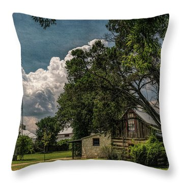 The Little Winery In Stonewall Throw Pillow