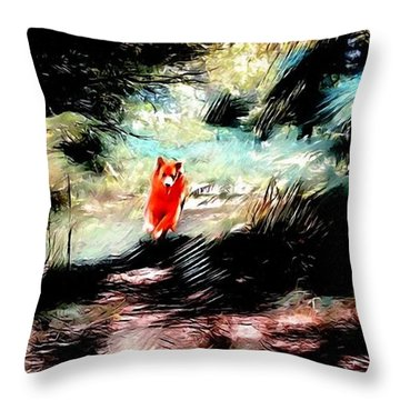 The Little Wood Nymph Throw Pillow