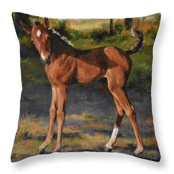 The Littlest Mustang Throw Pillow