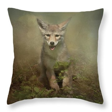 The Littlest Pack Member Throw Pillow