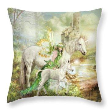 The Littlest Unicorn Throw Pillow