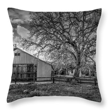 The Livery Stable And Oak Throw Pillow