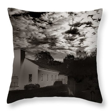 The Living And The Dead Throw Pillow by Joseph G Holland