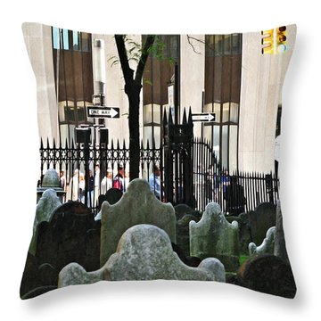 The Living And The Dead Throw Pillow by Sarah Loft