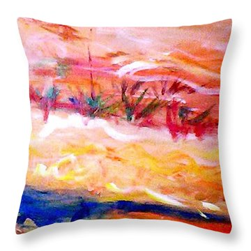 The Living Dunes Throw Pillow