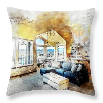 The Living Room Throw Pillow