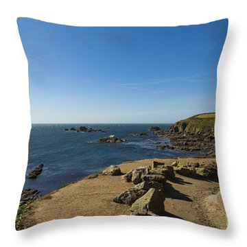 Throw Pillow featuring the photograph The Lizard Point by Brian Roscorla