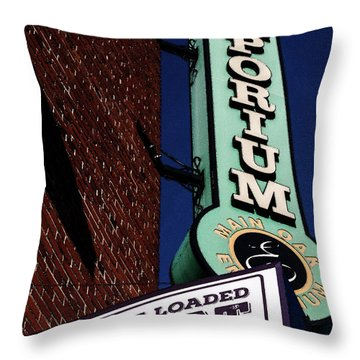 The Loaded Goat Throw Pillow