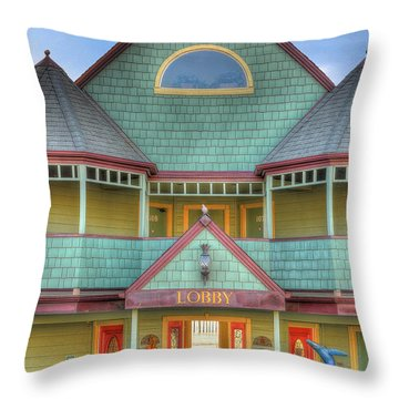 The Lobby Entrance Throw Pillow