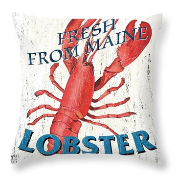 The Lobster Pot Throw Pillow