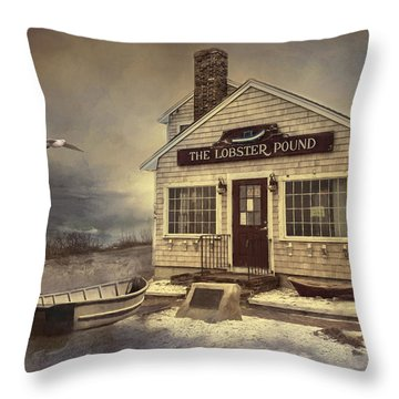 Throw Pillow featuring the photograph The Lobster Pound by Robin-Lee Vieira
