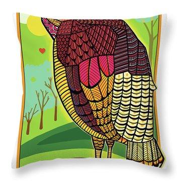 The Local Turkey Run Throw Pillow