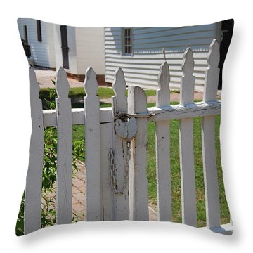 The Lock Throw Pillow by Eric Liller