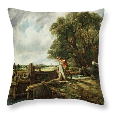 The Lock Throw Pillow by John Constable