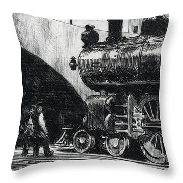 The Locomotive Throw Pillow