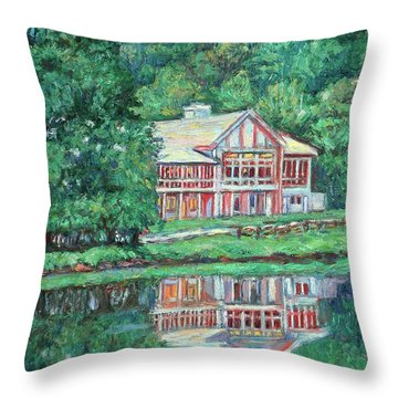 The Lodge At Peaks Of Otter Throw Pillow