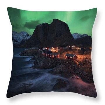 The Lofoten Dream Throw Pillow