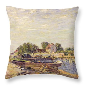 The Loing At Saint Mammes 1885 Throw Pillow by Alfred Sisley