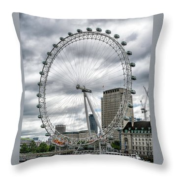 Throw Pillow featuring the photograph The London Eye by Alan Toepfer