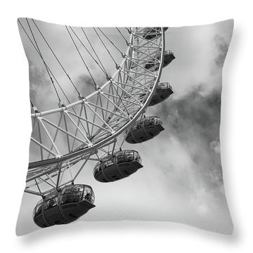 Throw Pillow featuring the photograph The London Eye, London, England by Richard Goodrich