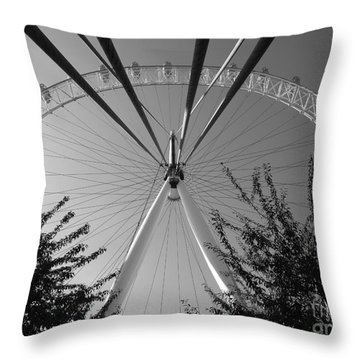 The London Eye  Monotone Throw Pillow