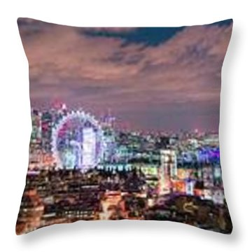The London Skyline Throw Pillow