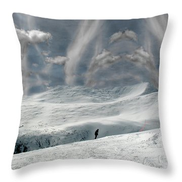 The Lone Boarder Throw Pillow