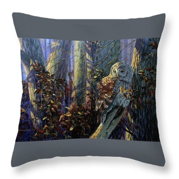 The Lone Hunter Throw Pillow