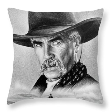 The Lone Rider Throw Pillow