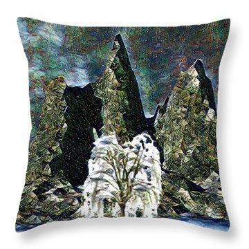 The Loneliest Tree Throw Pillow by Vennie Kocsis