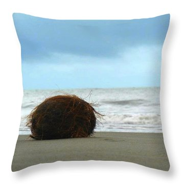 The Lonely Coconut Throw Pillow