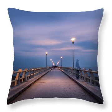 The Lonely Girl Throw Pillow