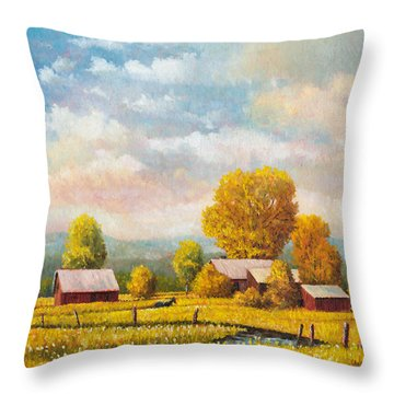 The Lonely Horse Throw Pillow