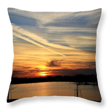 The Lonely Sunset Throw Pillow