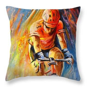 The Lonesome Rider Throw Pillow