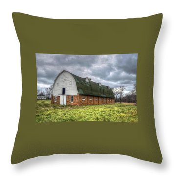 The Long Barn Throw Pillow