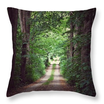 Throw Pillow featuring the photograph The Long Driveway by Karen Stahlros