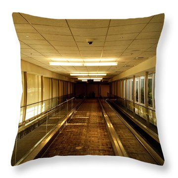 Throw Pillow featuring the photograph The Long Hall by Eric Christopher Jackson