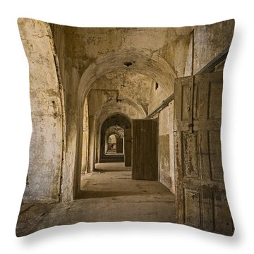The Long Hall Throw Pillow by Inge Riis McDonald