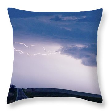 The Long Road Into The Storm Throw Pillow by James BO  Insogna