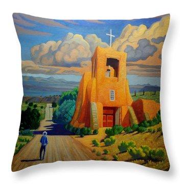 The Long Road To Santa Fe Throw Pillow