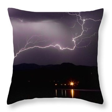 The Long Strike Throw Pillow by James BO  Insogna