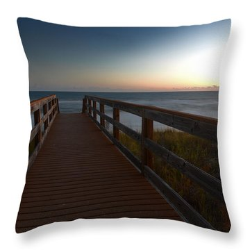 Throw Pillow featuring the photograph The Long Walk Home by Renee Hardison