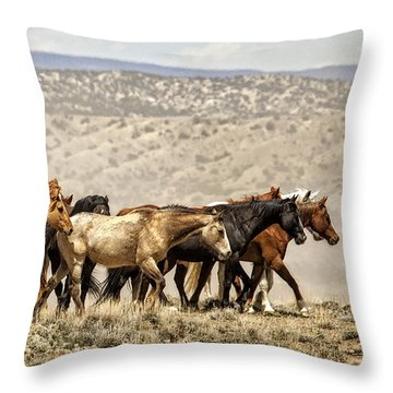 Chestnut Dun Horse Throw Pillows