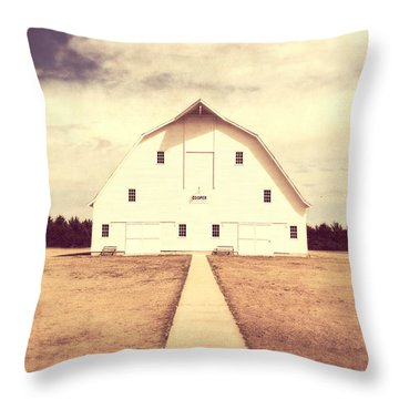 Throw Pillow featuring the photograph The Long Walk by Julie Hamilton