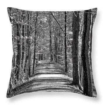 The Long Walk Throw Pillow