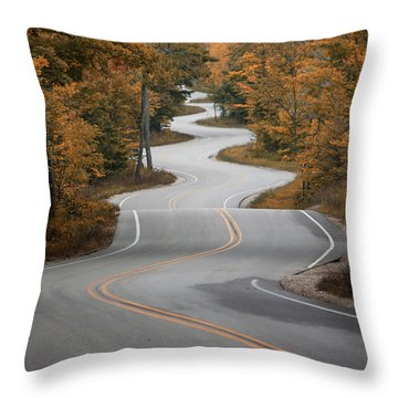 The Long Winding Road Throw Pillow