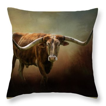 The Longhorn Throw Pillow