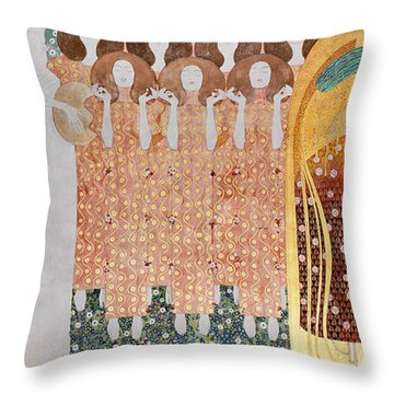 The Longing For Happiness Throw Pillow